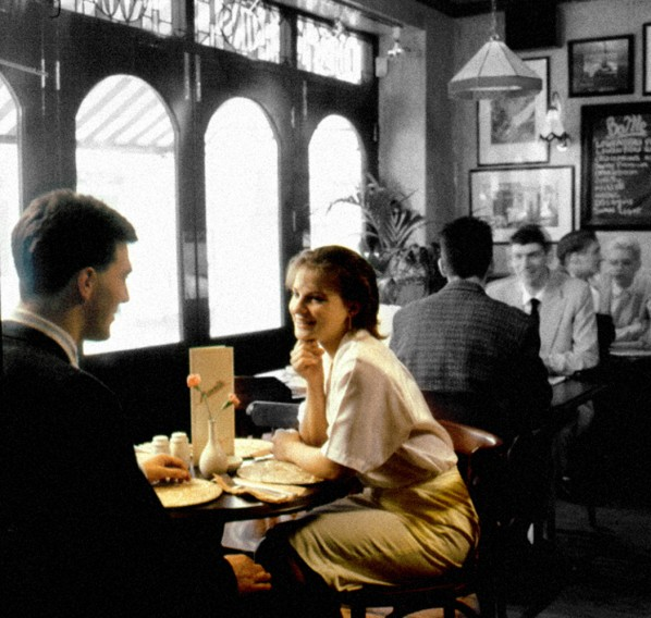 Couple Cafe Table Scene