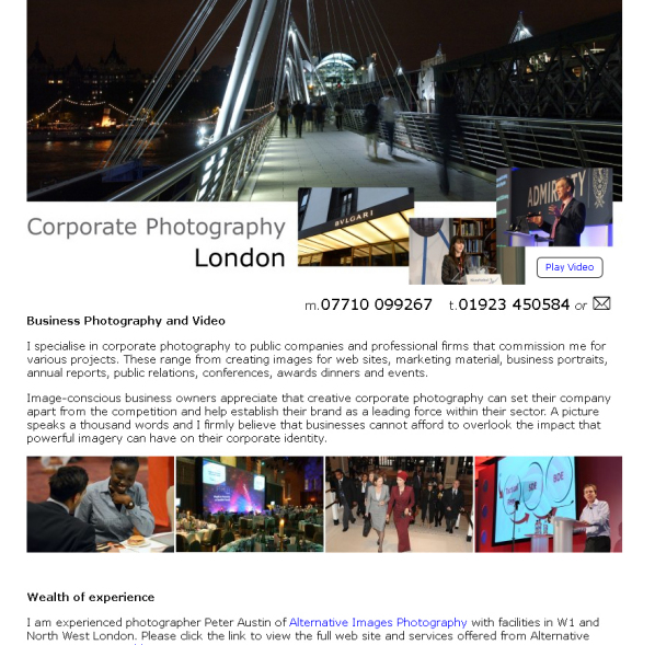 Corporate Photography Lonon